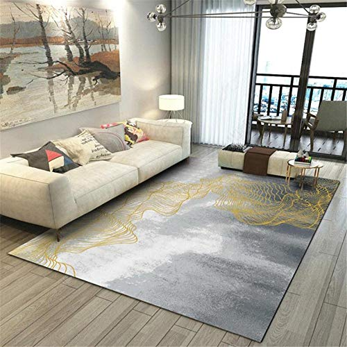 WQ-BBB Non-Slip Carpet Simple style abstract rug living room gray white brown dosen't shed kitchen carpet 45X75cm