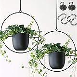 Abetree 2 Pcs Hanging Planters for...