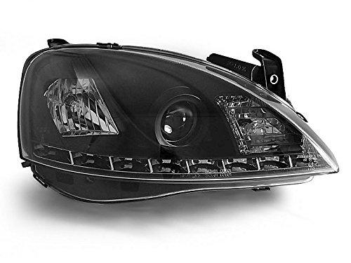 1 paar koplampen - Corsa C 00-06 Daylight LED zwart (P44)