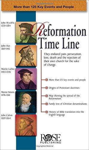 Reformation Time Line pamphlet