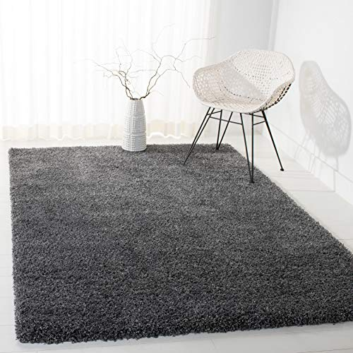 Safavieh California Premium Shag Collection SG151-8484 Area Rug, 3' x 5', Dark Grey