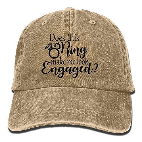 MjDIY honkbalmuts, laat deze ring er verloofd uitzien? Instelbare Cowboy Cotton denim hoed zonnecrème vissen buiten retro vizier cap