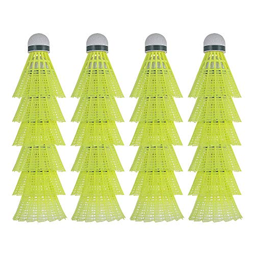HIRALIY 24 Pack Nylon Badminton Shuttlecocks Birdies, Baseball/Softball Batting Training High Speed Badminton Balls with Stable & Durable, Ideal Hitting Practice for Youth Players Indoor and Outdoor
