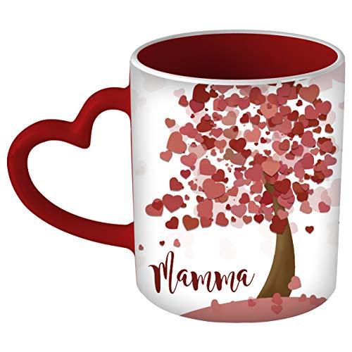 My Custom Style Tazza Cuore Rosso # L\'Albero della Mamma#