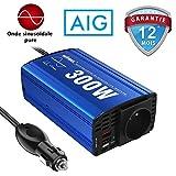 GIANDEL 300W Pur Sinus Convertisseur 12V 220V 240V Adaptateur de Voiture avec Double USB 4.8A et Prise de AC pour tablettes Portables Smartphones CPAP