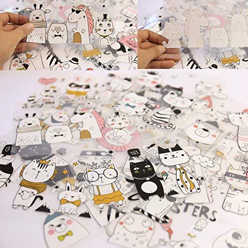 DAHI Bügelbilder Katze Einhorn Tiere Thermotransfer-Bügelbilder Schädel Muster Traumfänger Patches Wärmeübertragung Aufkleber für Kleidung, T-Shirt, Jeans, Taschen DIY (Tier)