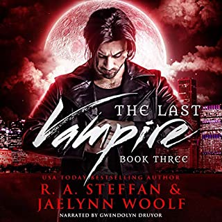 The Last Vampire: Book Three                   By:                                                                                                                                 R.A. Steffan,                                                                                        Jaelynn Woolf                               Narrated by:                                                                                                                                 Gwendolyn Druyor                      Length: 8 hrs and 5 mins     1 rating     Overall 4.0