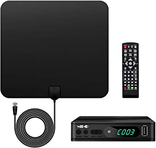 UBISHENG Digital TV Converter Box with Antenna, 1080P ATSC Converters with PVR Recording&Playback, HDMI Output, Timer Setting LED HDTV Set Top Box