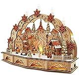Wichtelstube-Kollektion LED Schwibbogen mit Sockel & Timer Seiffener Kirche Schwibbogen Lichterbogen Weihnachten