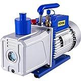Bestauto Vacuum Pump 12CFM 1HP Vane Vacuum Pump Two Stage 3 x 10-1 Pa Ultimate HVAC Rotary Auto AC Refrigerant Vacuum Pump for Automobile Reparation Vacuum Evacuation