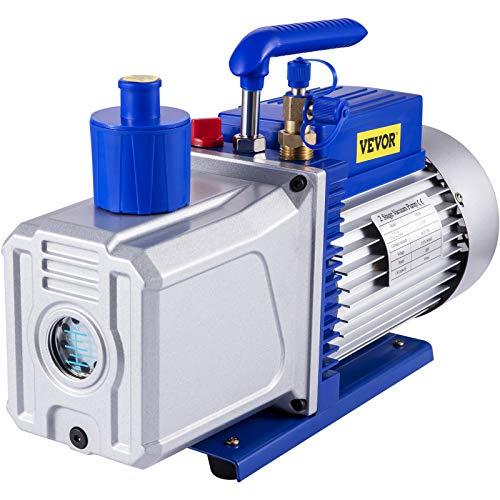 Moracle Bomba de Vacío de Refrigerante para HVAC/Coche AC 220 V 2 Metros Válvula de 2 Etapas 0.3 PA Ultimo Aire Acondicionado Bomba de Vacío Acondicionador Frigorífico Gas Refrigerante
