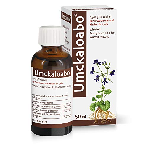 Umckaloabo Tropfen – Pflanzliches Anti-Infektivum bei akuter Bronchitis – 1 x 50ml…