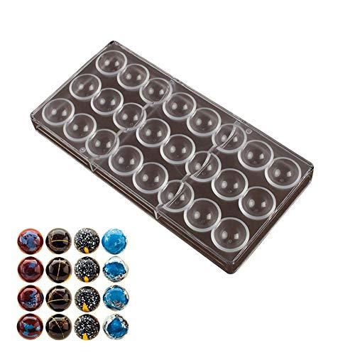 LUCYPAPASHOW 3D Schokoladenform Halbkugel Formen Backzubehör Aus Polycarbonat Transparent Gebäck Werkzeug Backform Bakeware Pfanne Für Chocoate Kuchen Süßigkeiten 24 Gitters