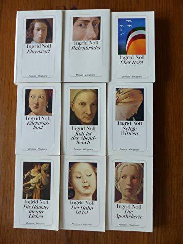Paket Ingrid Noll: Röslein rot. Kalt ist der Abendhauch. Die Apothekerin. Der Hahn ist tot. Die Häupter meiner Lieben. (5 Taschenücher)!