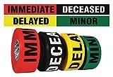 Sim Supply Triage Tape Kit, Black, Green, Red, Yellow, 1 1/2 in x 300 ft HAWA CUMULTI-200-1 Each