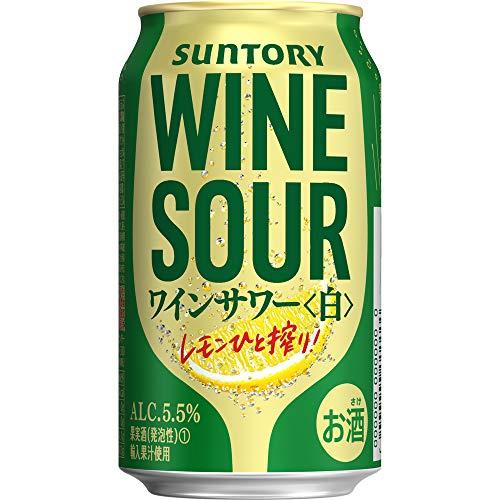 【甘くない本格ワインサワー】 サントリー ワインサワー 白 [ スパークリング 日本 350ml×24本 ]