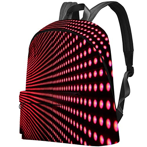 TIZORAX Rucksack für Frauen Red Lights In Line Große Schultaschen Rucksack Casual Daypack für Reisen Wandern