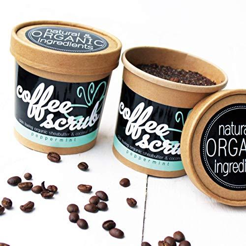Coffee Body Scrub - Körperpeeling mit Kaffee | fair trade, ätherisches Minzöl, Sheabutter, Kokosnussöl
