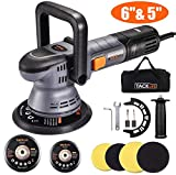 Buffer Polisher, TACKLIFE 6 Inch/5 Inch Orbital Car Polisher, 6-Level Variable Speed, with 4 Foam Pads, Tool Bag for Car Polishing, Waxing - PPGJ04A
