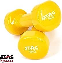 Stag Vinyl Dumbbell (2kg / 4kg / 6kg)