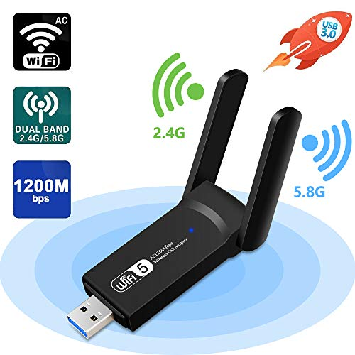 Best Prices! Aigital WiFi Adapter 1200Mbps, USB Wireless Network Adapter Dual Band 5GHz & 2.4GHz wit...