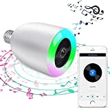 Demetory Smart Bluetooth Music Wireles Bluetooth Speaker Lamp E27 Stereo Surround Sound LED Light Bulb Speaker (White)