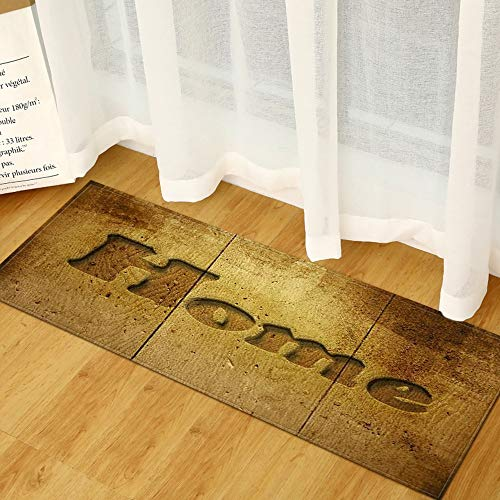OPLJ Tappetino da Cucina Moderno Zerbino d'ingresso Modello in Legno 3D Tappetini per la casa Soggiorno Camera da Letto Tappeto Bagno Tappeti Antiscivolo A1 50x160 cm