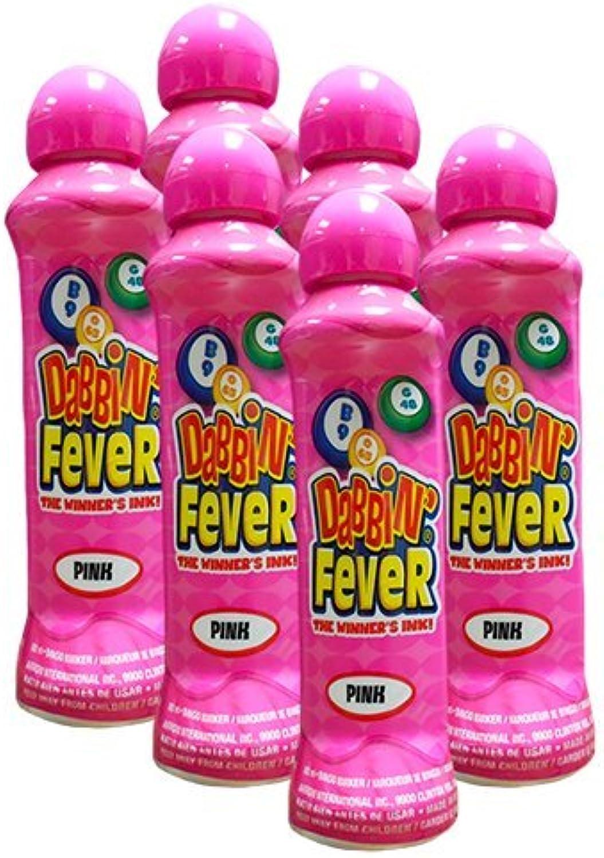 Six Pack 3oz Dabbin' Fever Pink Bingo Dauber