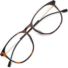 Livho Blue Light Blocking Computer Glasses for Women Men,Anti Glare UV Filter TR90 Eyewear Frame Eyeglasses - 0.0 Diopter