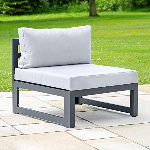 Harrier Aluminium Garden Furniture Sets - [Build Your Own] | Build or Extend Your Own Garden Furniture Sets | Patio Furniture - Garden Table and Chairs and Ottomans (Armless Sofa Unit)