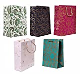 RJKART DI-Kraft Handmade Party Favour Paper Carry Bag (Multicolour) -Set of 5