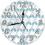 Reloj De Pared Reloj De Pared con Logotipo De Guatemala, Silencioso, Sin Tictac, Reloj De Pared Redondo Decorativo De Escaneo Continuo
