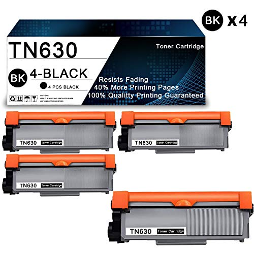 4 Pack Black TN630 Compatible Toner Cartridge Replacement for Brother HL-L2300D HL-L2305W HL-L2315DW HL-L2320D HL-L2340DW HL-L2360DW HL-L2380DW MFC-L2680W MFC-L2685DW Printers Toner Cartridge. -  PoToner, Brother TN630-4BK