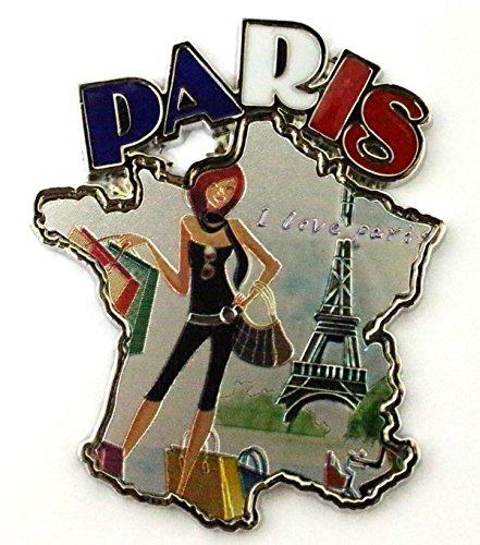 AKER Magnet Aimant frigo Cuisine Souvenir de France Paris métal Cadeaux G140 5x6,5 cm