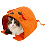 unbrand Cat Tent Mouse Shape Toy Summer Collapsible Kitten Rabbit Cat Tent Tunnels