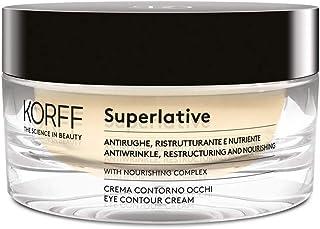 Korff Superlative Crema Contorno Occhi, Antirughe, Formula Anti Age, Ristrutturante e Nutriente con Nourishing Complex, Ef...