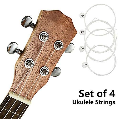8 Stück reguläre GCEA gestimmte kleine Gitarre Nylon Drilling-Saiten Universal Set für 53,3 cm / 58,4 cm / 66 cm Ukulele Musikinstrument-Zubehör, weiß