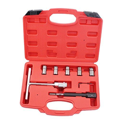 Preisvergleich Produktbild Profi 7PC Dieselinjektor Sitz Cutter für Reinigungsmittel-Werkzeug-Set