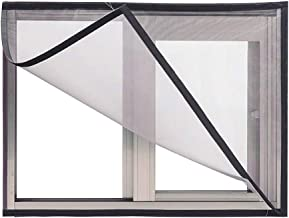 BASHI Raamschermnet voor kattenbescherming, zonder boren van raamgaas, handig semi-transparant raamgaas, zelfklevend raamgaas