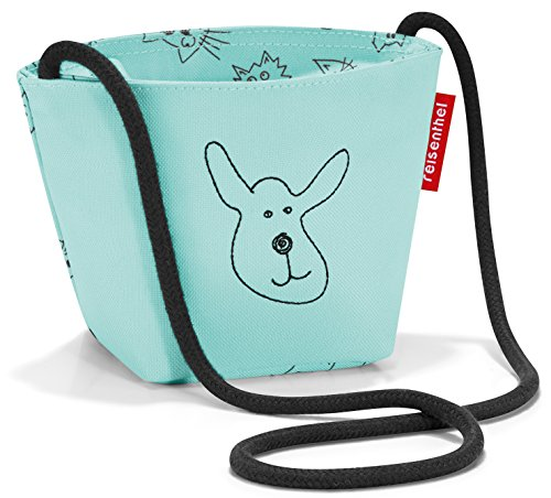 reisenthel Kids Accesorio de viaje- Bolsa para zapatos, Cats and Dogs Mint, 21x28x12 para Niños