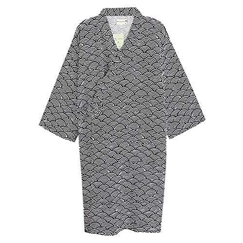 Deylaying Hombres Kimono Pijama - Japonés Yukata Robes Kimono Robe Khan Vaporos Ropa Pijamas