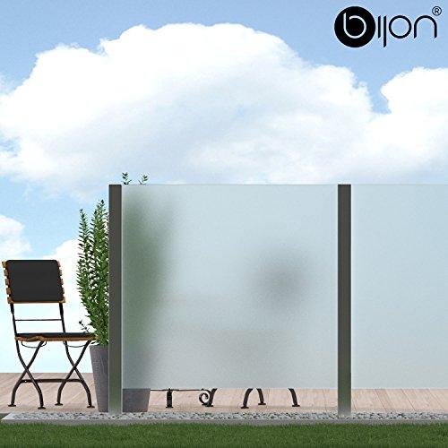 bijon Glassichtschutz Windschutz Glaszaun Satiniert PG3 G | 1190x1835mm
