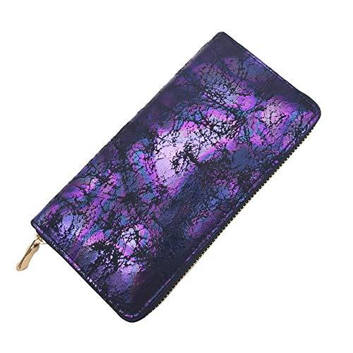 FSYX Wallet New Colorful Ladies Long Wallet PU Cartera de Cuero Fashion 2020 Christmas Wallet Copper Zipper Female Card Holder China Purple