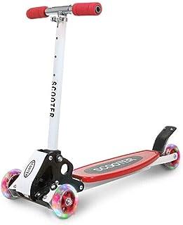 8haowenju Scooter para niños, Tres o Cuatro Ruedas Plegable para niños Swing Car Slider Ajustable, Fresco Verde/Rojo/Azul, Mejor Regalo últimos Modelos