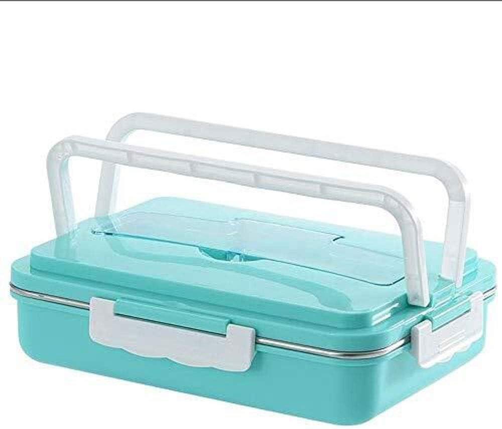 CHENCfanh fiambrera Box lunch for los adultos de los niños con 4 Compartimiento, el almuerzo prueba de fugas caja de envases de alimento seguro for microondas, por sana, seca y alimentos líquidos disf