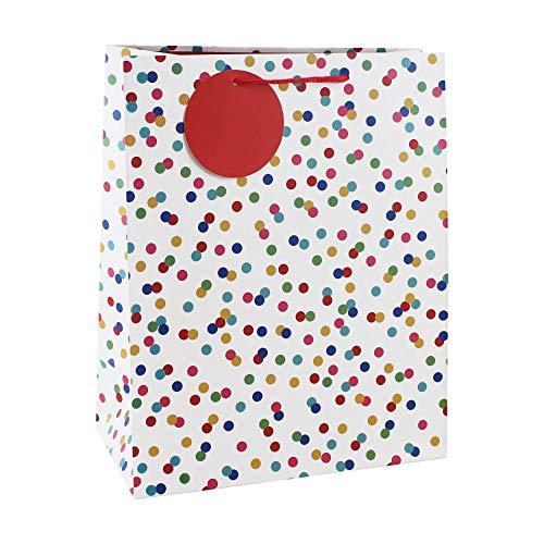 Clairefontaine 26988-2C - Un sac cadeau large 26,5x14x33 cm 157g, Pois