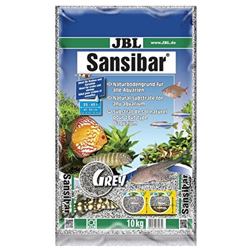 JBL Sansibar 67063, Bodengrund für Süß- und Meerwasser Aquarien, 10 kg, Grau