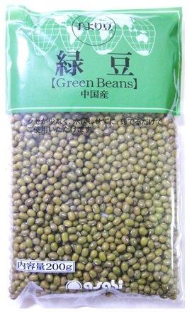 豆力 豆専門店の緑豆 200g×3袋  メール便