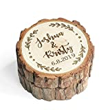 LOVEhandmade Custom Wood Wedding Ring Box Wedding Ring Bearer Personalized Rustic Wedding Ring Box Engraved Ring Holder Wedding Box