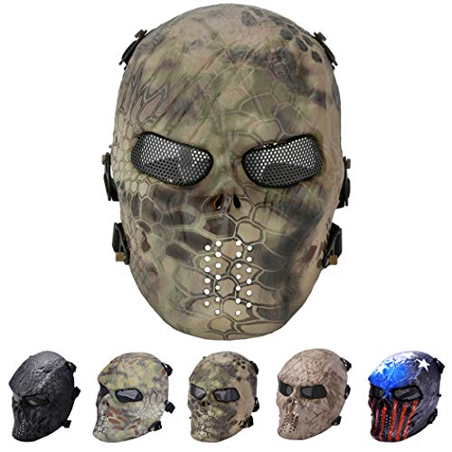 Outgeek Tactical Airsoft Mesh Mask Protective Full Face Costume Mask(All-Terrain)